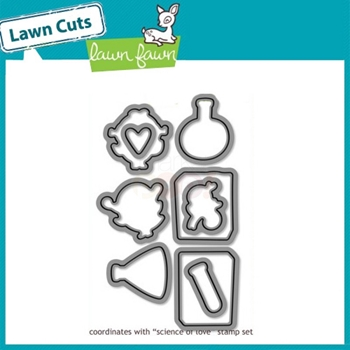 Lawn Fawn SCIENCE OF LOVE Lawn Cuts Dies LF599*