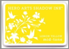 Hero Arts Shadow Ink Pad LEMON YELLOW Mid-Tone AF261