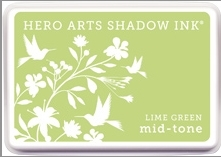 Hero Arts Shadow Ink Pad LIME GREEN Mid-Tone AF262  zoom image