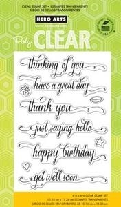 Hero Arts Clear Stamps MESSAGE WITH FLOURISH CL738 Preview Image