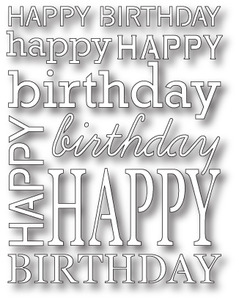 Poppy Stamps HAPPY BIRTHDAY BACKGROUND Craft Die 990 Preview Image