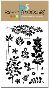 Paper Smooches BOTANICALS 2 Clear Stamps Kim Hughes