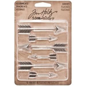 Tim Holtz Idea-ology ARROWS Adornments Metal Charms TH93127