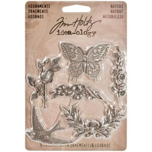 Tim Holtz Idea-ology NATURE Adornments Metal Charms TH93128* zoom image