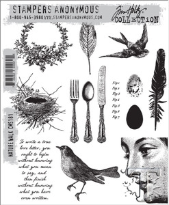 Tim Holtz Cling Rubber Stamps NATURE WALK cms181