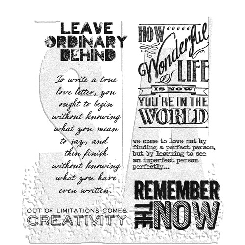 Tim Holtz Cling Rubber Stamps RANDOM QUOTES cms182 Preview Image