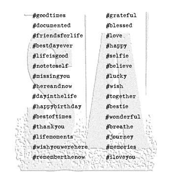 Tim Holtz Cling Rubber Stamps HASHTAGS cms183