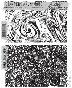 Tim Holtz Cling Rubber Stamps MARBLE & DOILY cms184*