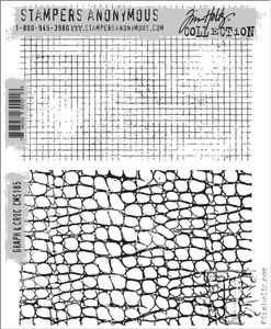 Tim Holtz Cling Rubber Stamps GRAPH & CROC cms185 Preview Image