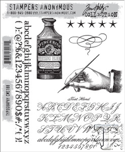 Tim Holtz Cling Rubber Stamps TYPOGRAPHY cms188