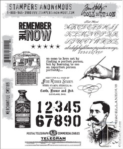 Tim Holtz Cling Rubber Stamps MERCHANTILE cms189 Preview Image