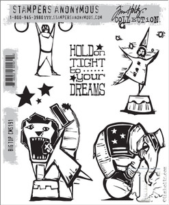 Tim Holtz Cling Rubber Stamps BIG TOP cms191
