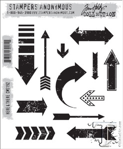 Tim Holtz Cling Rubber Stamps HERE and THERE cms192  Preview Image