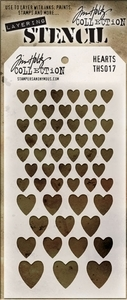 Tim Holtz Layering Stencil HEARTS THS017 Preview Image