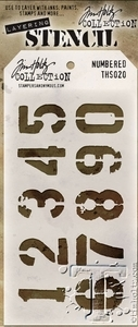 Tim Holtz Layering Stencil NUMBERED ths020