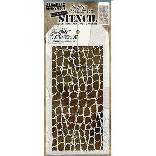 Tim Holtz Layering Stencil CROCODILE ths022 Preview Image