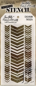 Tim Holtz Layering Stencil CHEVRON ths024 Preview Image