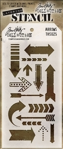 Tim Holtz Layering Stencil ARROWS ths025 zoom image