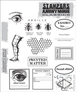 Stampers Anonymous Cling Rubber Stamps CLASSICS #12 SCF012 Preview Image
