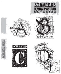 Stampers Anonymous Cling Rubber Stamps CLASSICS #14 SCF014 zoom image
