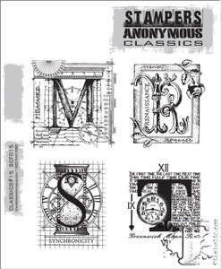 Stampers Anonymous Cling Rubber Stamps CLASSICS #15 SCF015 zoom image