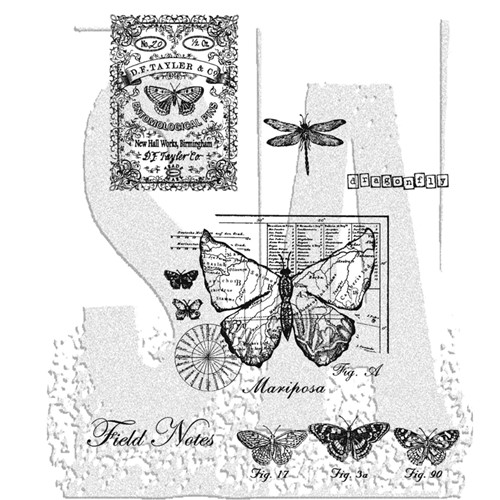 Stampers Anonymous Cling Rubber Stamps CLASSICS #17 SCF017 Preview Image