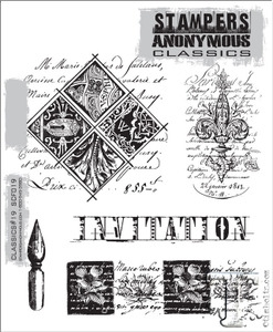 Stampers Anonymous Cling Rubber Stamps CLASSICS #19 SCF019 Preview Image