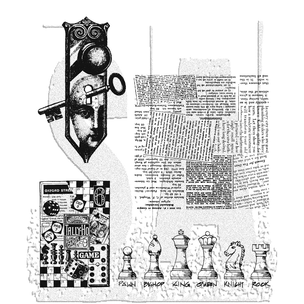 Stampers Anonymous Cling Rubber Stamps CLASSICS #20 SCF020 zoom image