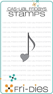 CAS-ual Fridays HEART NOTE Fri-Die 13107 Preview Image