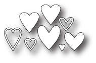 Memory Box MINI HEART COLLECTION Craft Die 98763 Preview Image