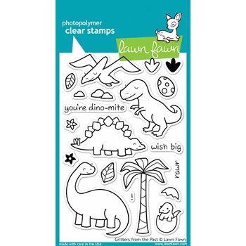 Lawn Fawn CRITTERS FROM THE PAST Clear Stamps LF602