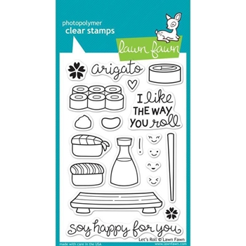 Lawn Fawn LET'S ROLL Clear Stamps LF606