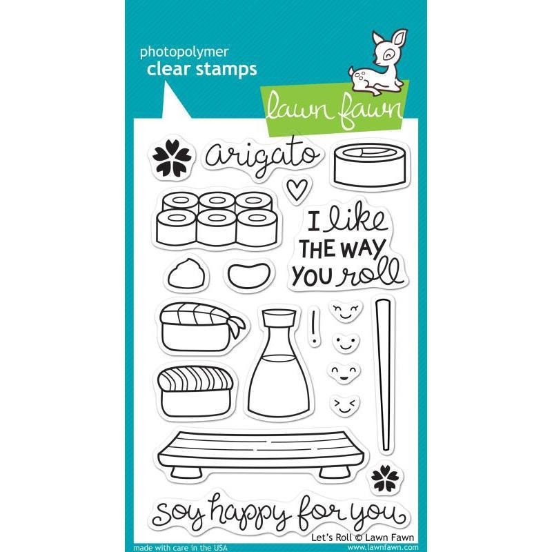 Lawn Fawn LET'S ROLL Clear Stamps LF606 zoom image