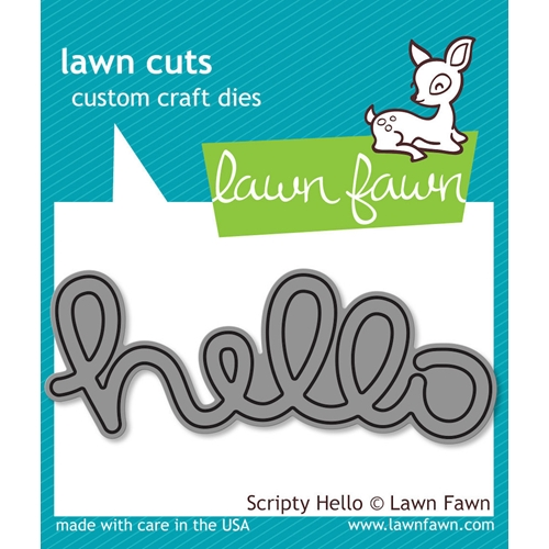 Lawn Fawn SCRIPTY HELLO Lawn Cuts Dies LF610 Preview Image