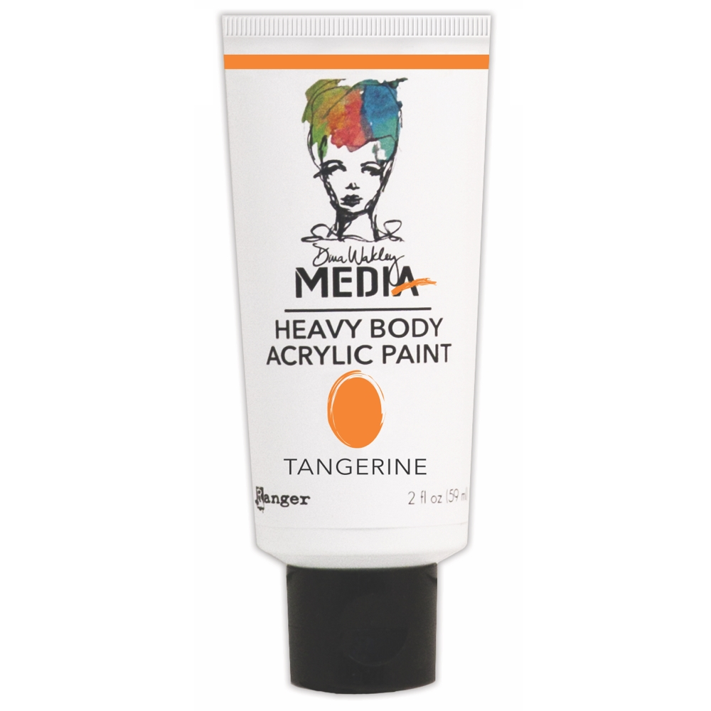 Dina Wakley Ranger TANGERINE Media Heavy Body Acrylic Paints MDP41153 zoom image