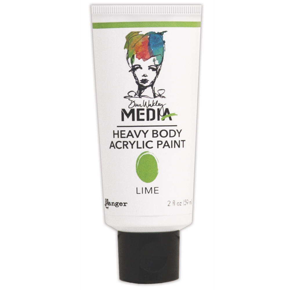 Dina Wakley Ranger LIME Media Heavy Body Acrylic Paints MDP41108 zoom image