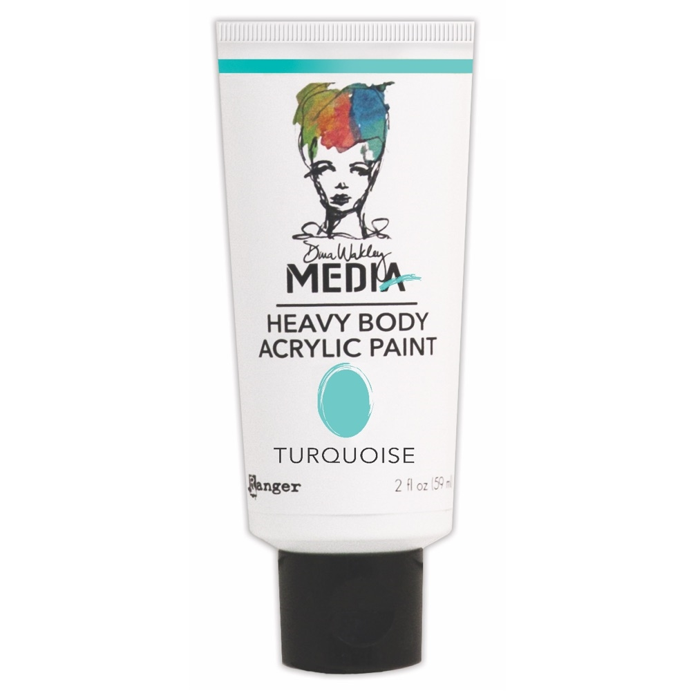 Dina Wakley Ranger TURQUOISE Media Heavy Body Acrylic Paints MDP41160 zoom image