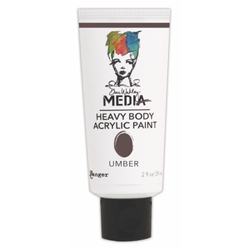 Dina Wakley Ranger UMBER Media Heavy Body Acrylic Paints MDP41177