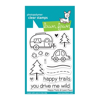 Lawn Fawn HAPPY TRAILS Clear Stamps LF601