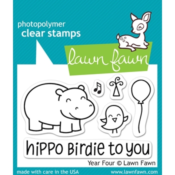 Lawn Fawn YEAR FOUR Clear Stamps LF655