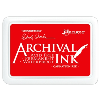 Ranger Wendy Vecchi Archival CARNATION RED Ink Pad AID41399