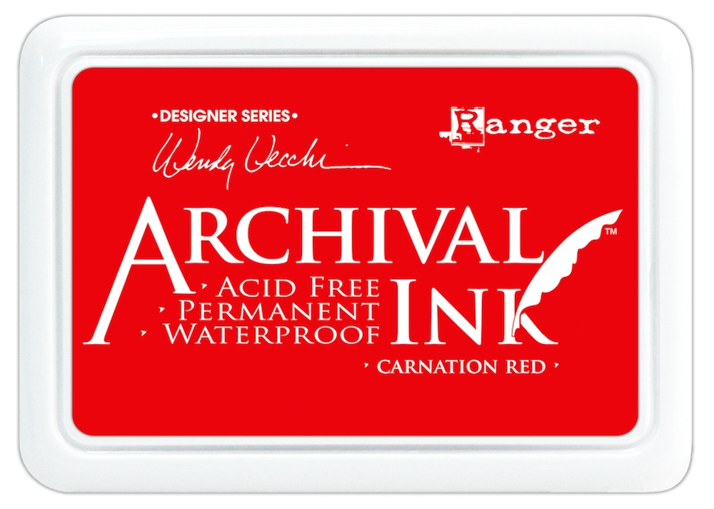 Ranger Wendy Vecchi Archival CARNATION RED Ink Pad AID41399 zoom image