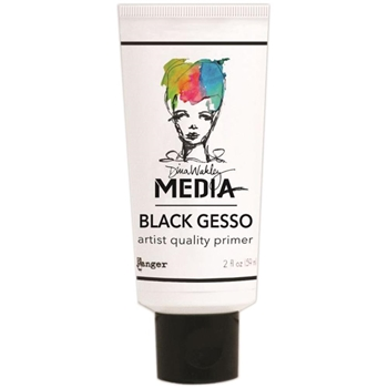 Dina Wakley Ranger BLACK GESSO 2 OZ. TUBE Media MDM41702