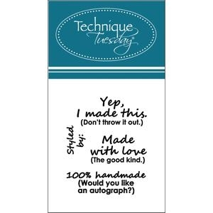 Technique Tuesday Clear Stamps MADE WITH LOVE Teri Anderson