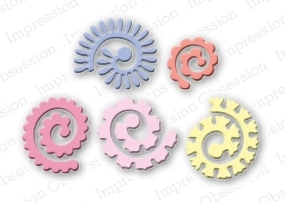 Impression Obsession Steel Dies SPIRAL FLOWERS DIE042-I Preview Image