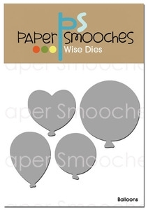 Paper Smooches BALLOONS Wise Dies Kim Hughes zoom image