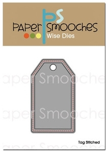 Paper Smooches TAG STITCHED Wise Die Kim Hughes*