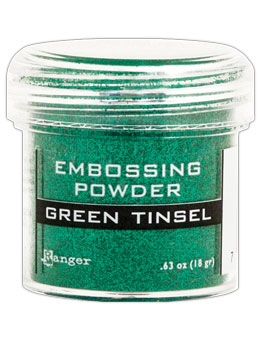 Ranger Embossing Powder GREEN Tinsel EPJ41054 Preview Image