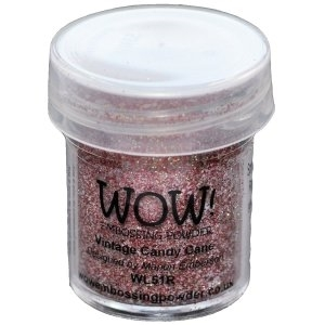 WOW Embossing Glitter VINTAGE CANDY CANE Regular WS51R