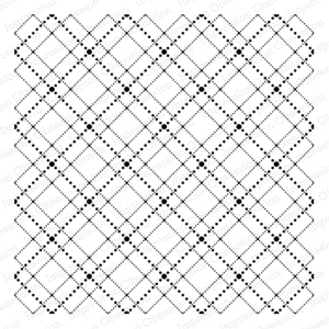 Impression Obsession Cling Stamp DOTTED ARGYLE CC175 Preview Image